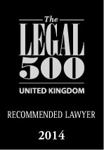 Legal 500 - Recommended Lawyer Logo 2014